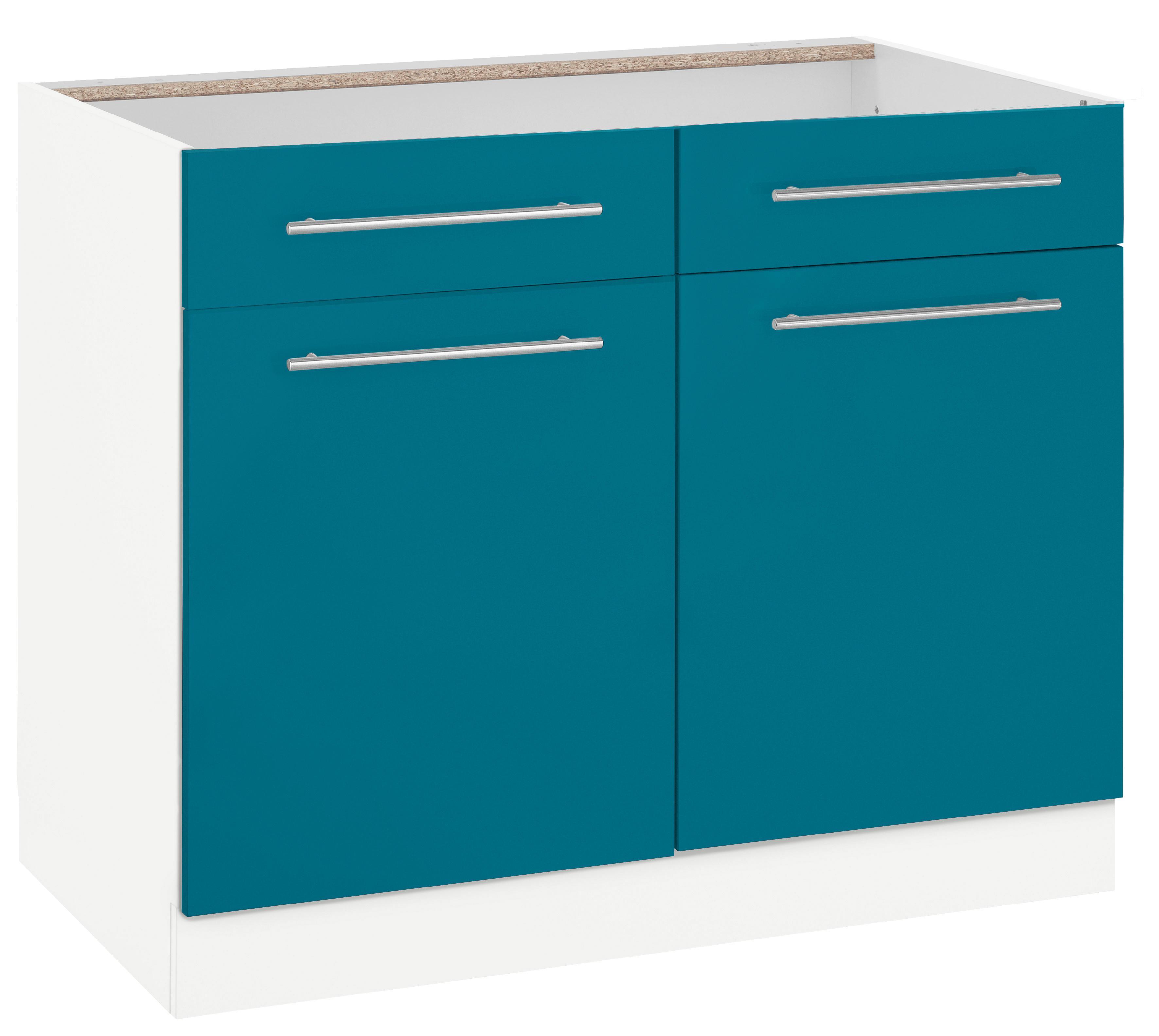 wiho k chen unterschrank flexi2 breite 100 cm auf. Black Bedroom Furniture Sets. Home Design Ideas