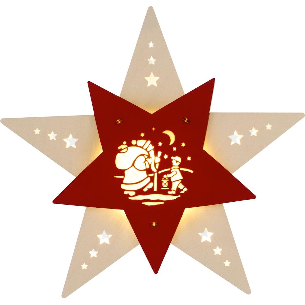 Weigla Beleuchtetes Fensterbild »Knecht Ruprecht«