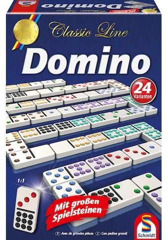 Schmidt Spiele Spiel »Classic Line, Domino«, mit extra großen Spielsteinen kaufen