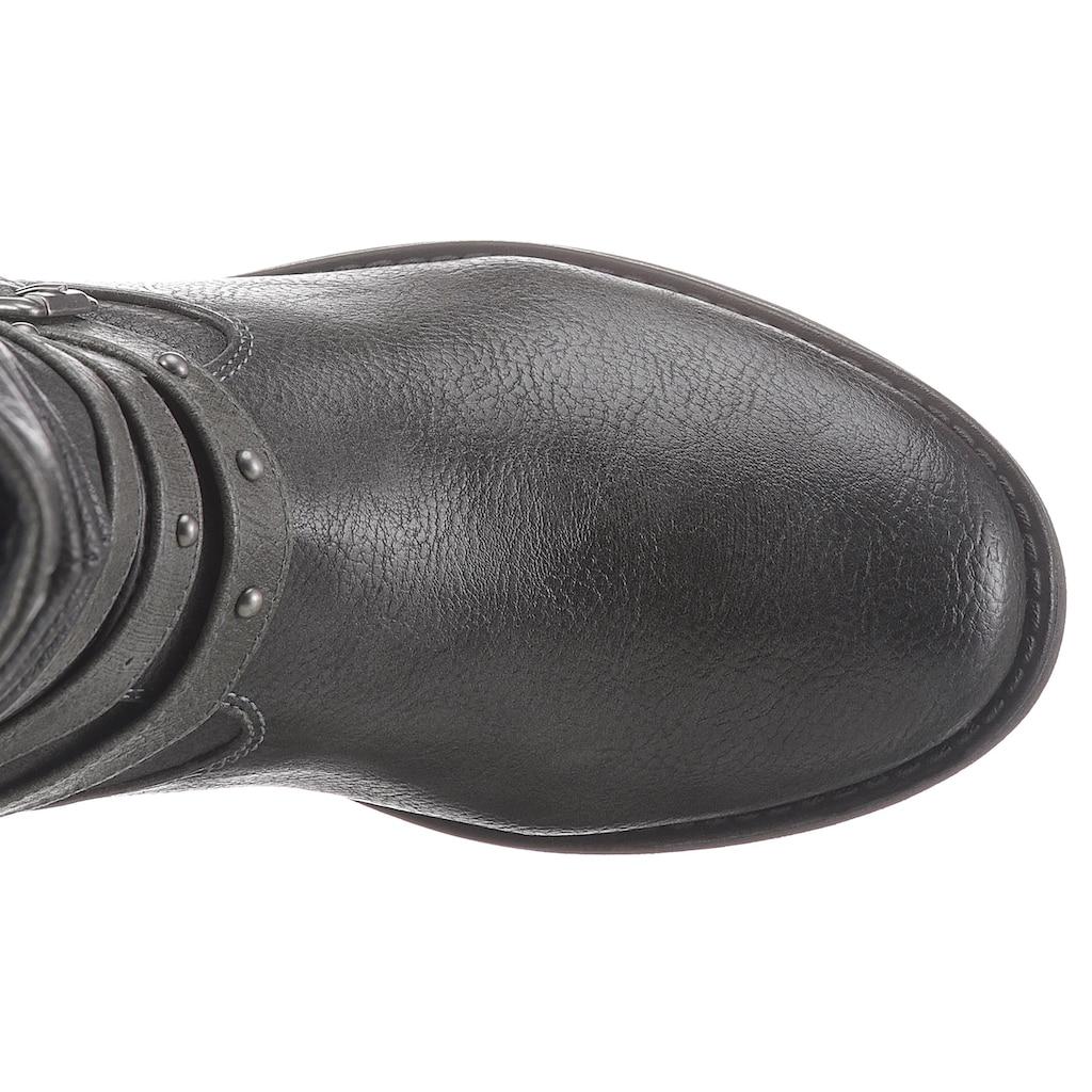 Mustang Shoes Winterstiefel, mit Prägung an der Ferse