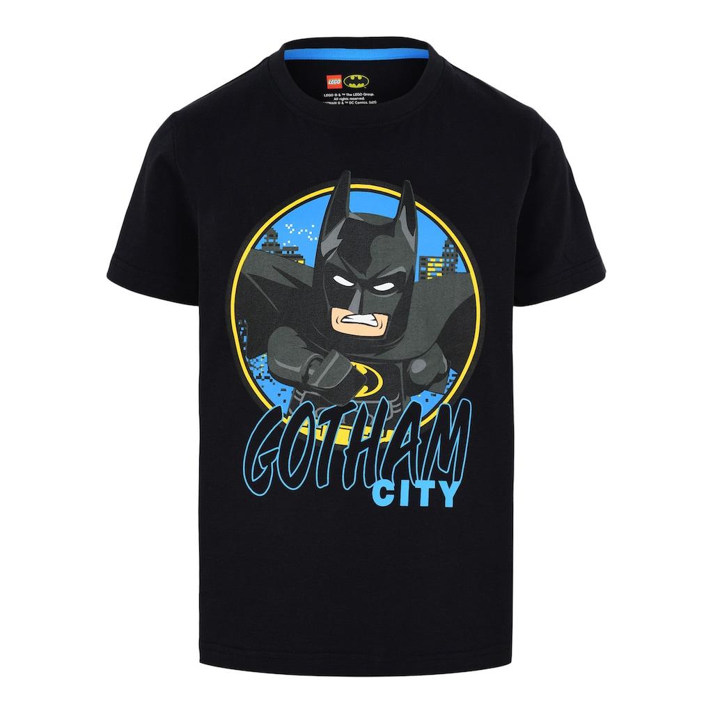 """LEGO® Wear Kurzarmshirt »M12010023«, Schriftzug """" GOTHAM CITY """""""
