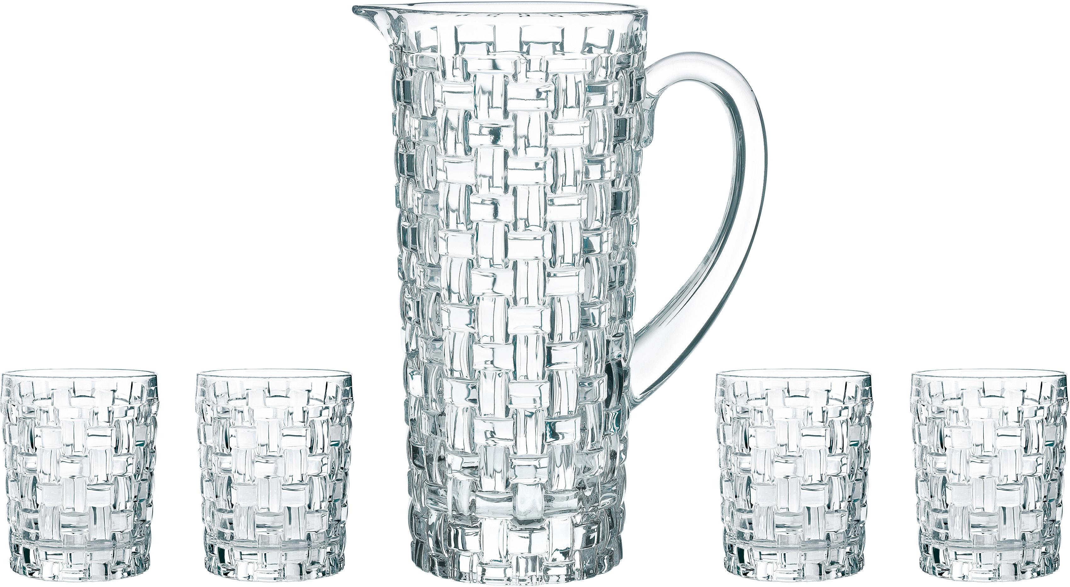 Nachtmann Gläser-Set Bossa Nova, (Set, 5 tlg.), Kristallglas farblos Kristallgläser Gläser Glaswaren Haushaltswaren