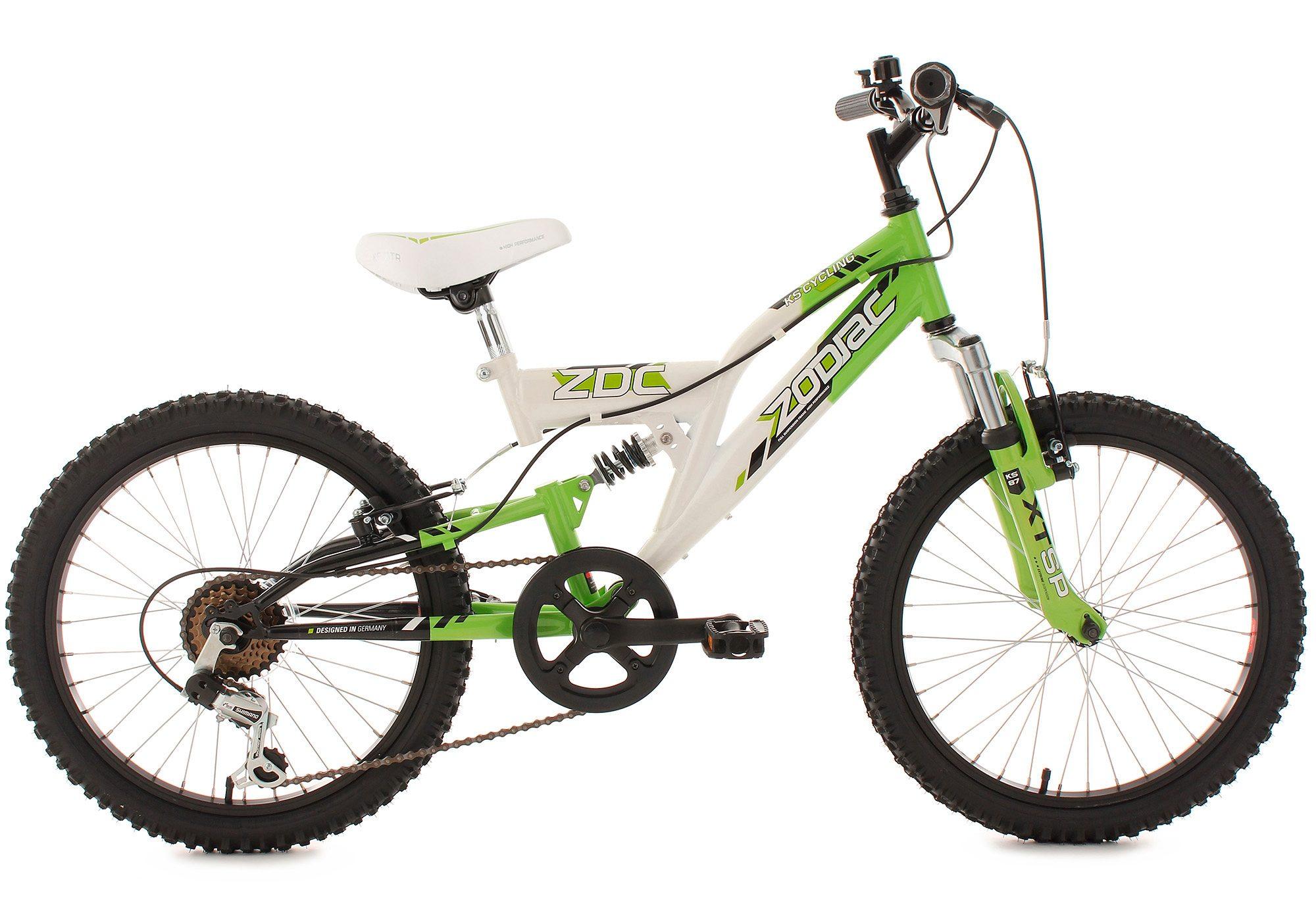 KS Cycling Jugendfahrrad Zodiac, 6 Gang, Shimano, Tourney Schaltwerk, Kettenschaltung grün Kinder Kinderfahrräder Fahrräder Zubehör