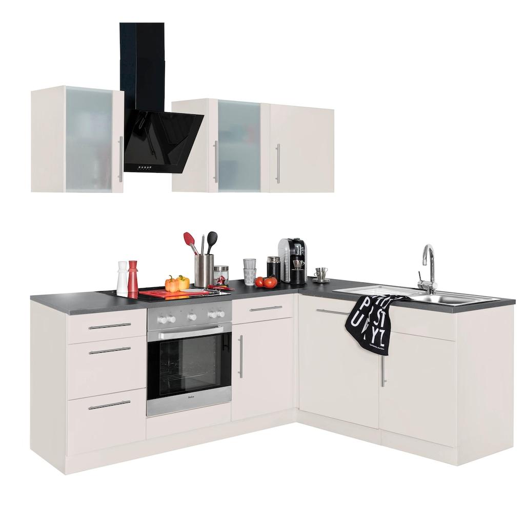 wiho Küchen Winkelküche »Cali«, ohne E-Geräte, Stellbreite 220 x 170 cm