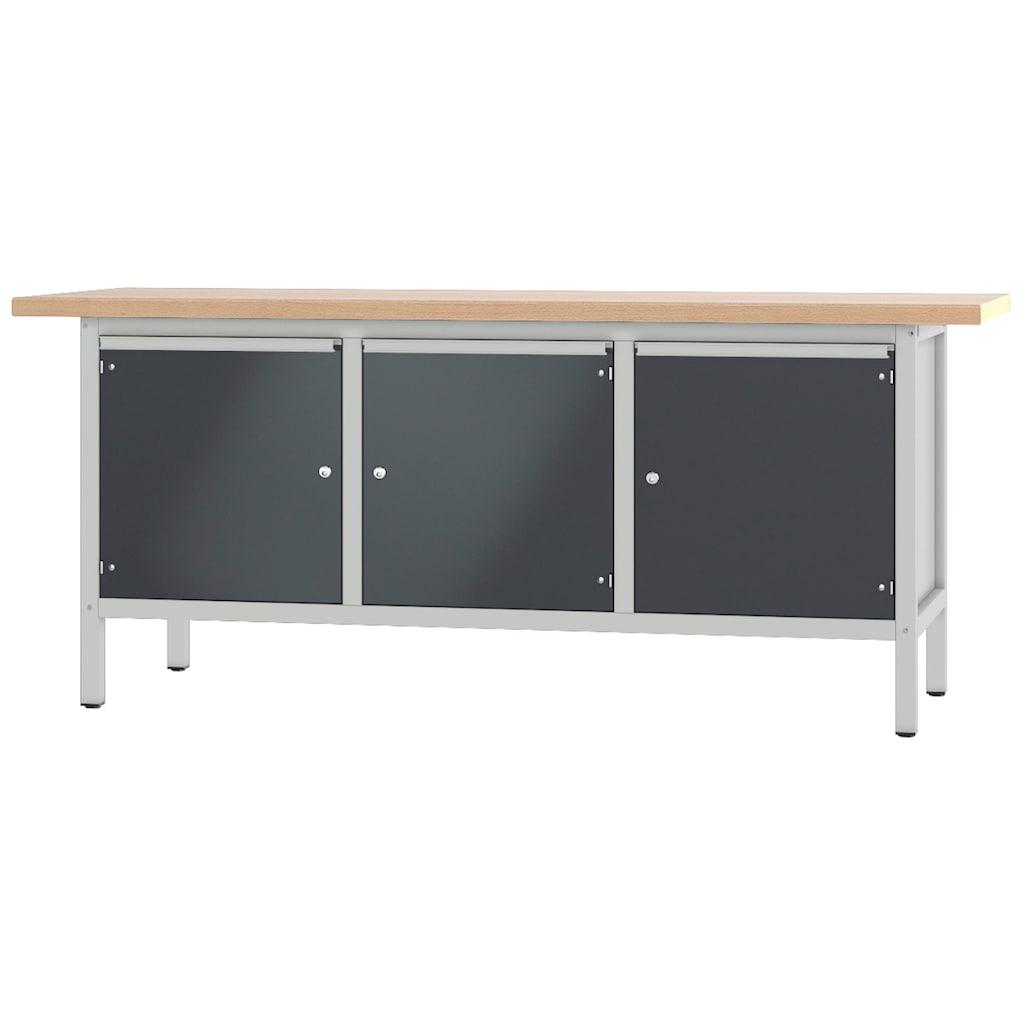 PADOR Werkbank »31 S 444«, Höhe/Länge: 85,5x200 cm