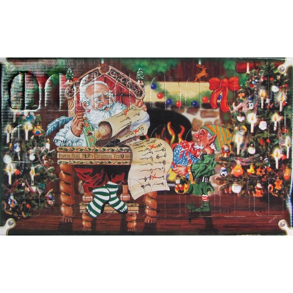 Krebs Glas Lauscha Adventskalender, mit Weihnachtsbaumschmuck