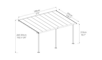 Palram Terrassendach »Olympia 3x5.4«, BxT: 546x295 cm kaufen