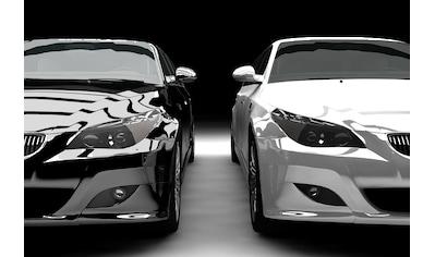 Papermoon Fototapete »Schwarz-Weiß-Limousinen«, samtig, Vliestapete, hochwertiger... kaufen