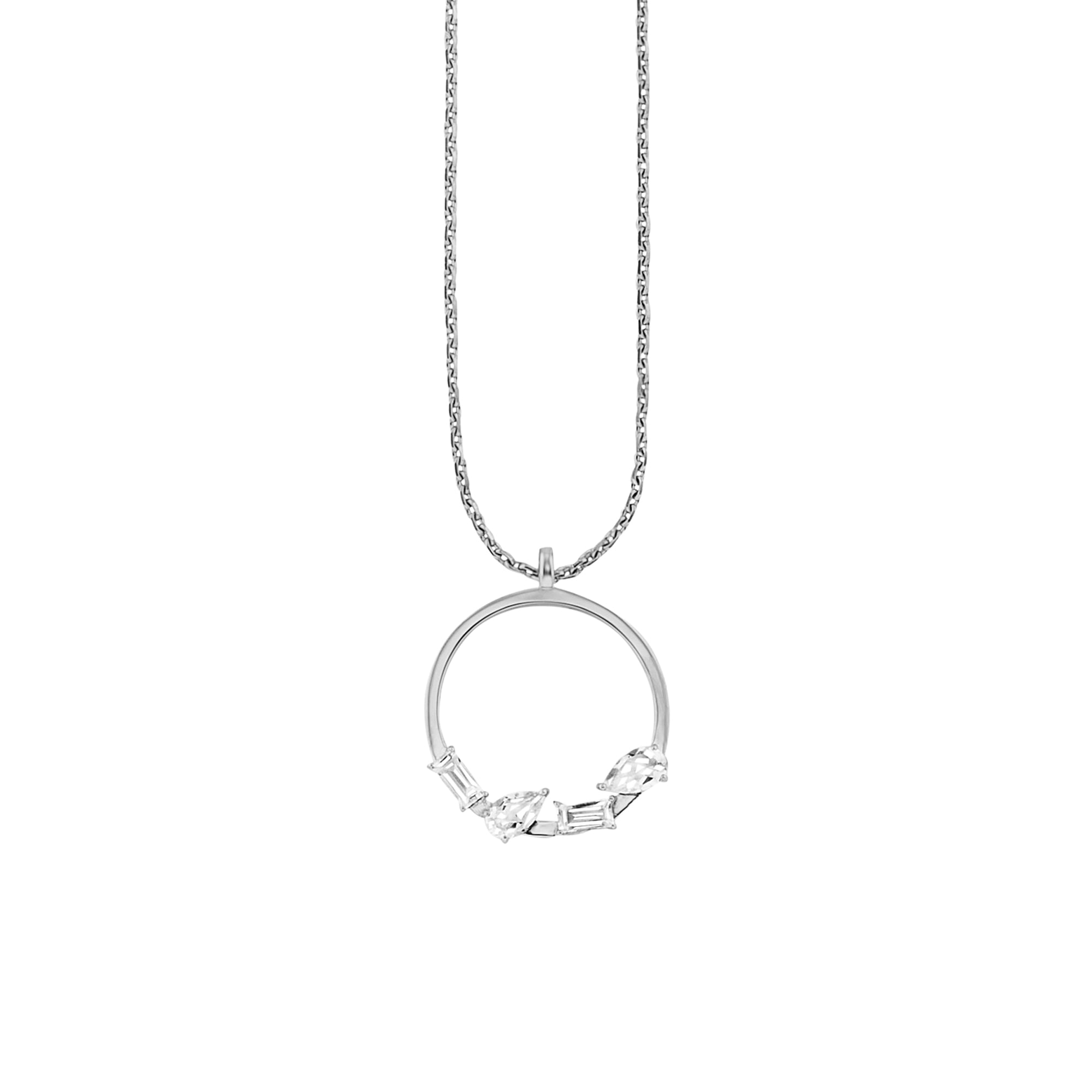 Cai Halskette 925/- Sterling Silber rhodiniert Weißtopas | Schmuck > Halsketten > Lange Ketten | Weiß | Metall | Cai