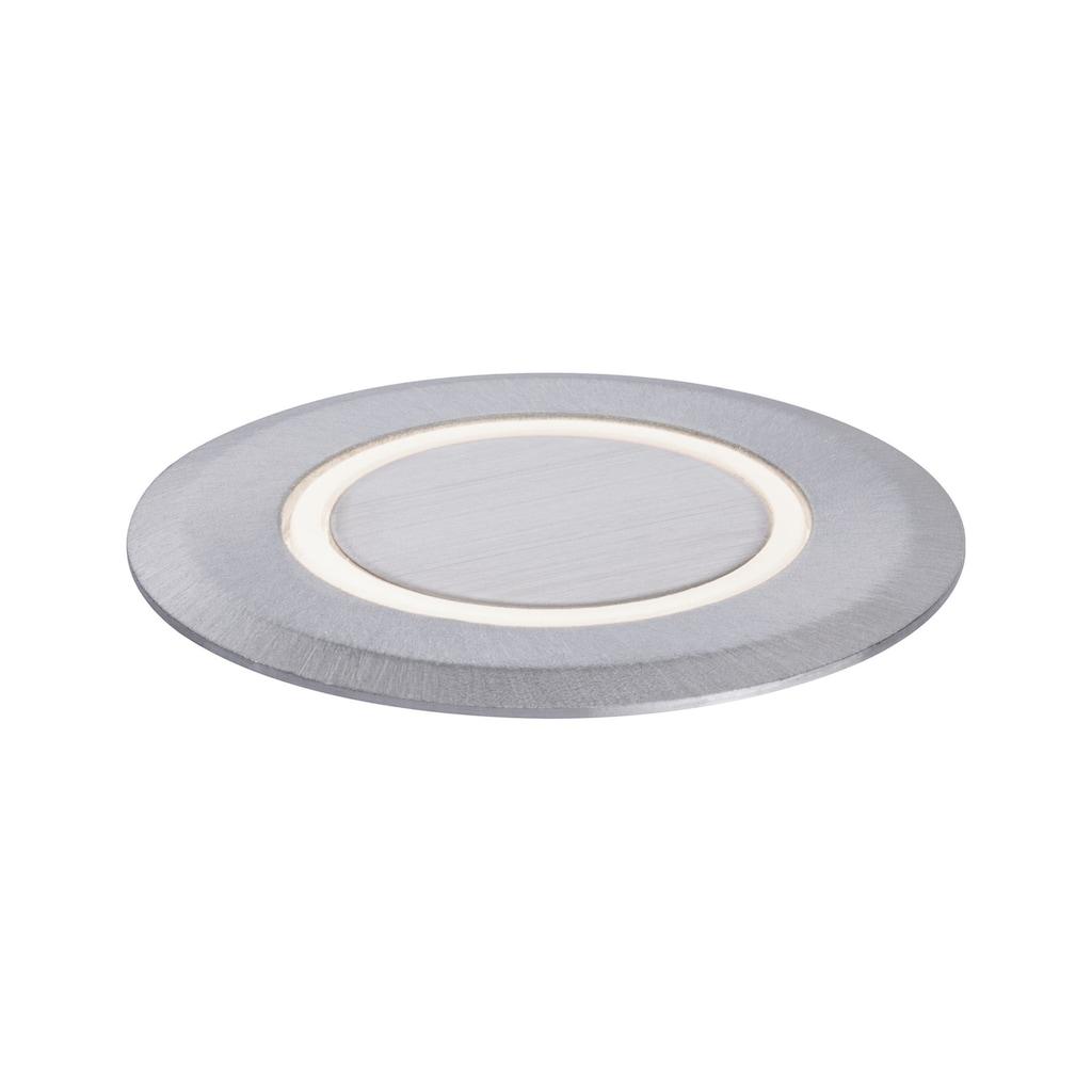 Paulmann LED Einbauleuchte »Bodeneinbauleuchte House 3.000K IP65 2W Edelstahl, Kunststoff 230V«, 1 St., Warmweiß