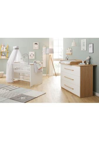 Lüttenhütt Baby Babymöbel-Set »Lauris, weiß/eiche«, (Spar-Set, 2 St.), FSC®-Holz aus... kaufen