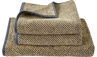 Dyckhoff Handtuch Set »Golden Shades Herringbone«, mit Fischgrät-Muster kaufen