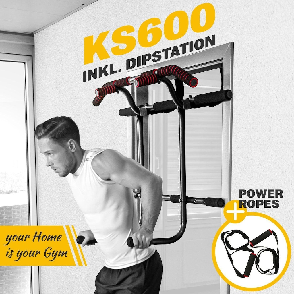 Sportstech Türreck »KS600«, (Set, mit Trainingsplan)