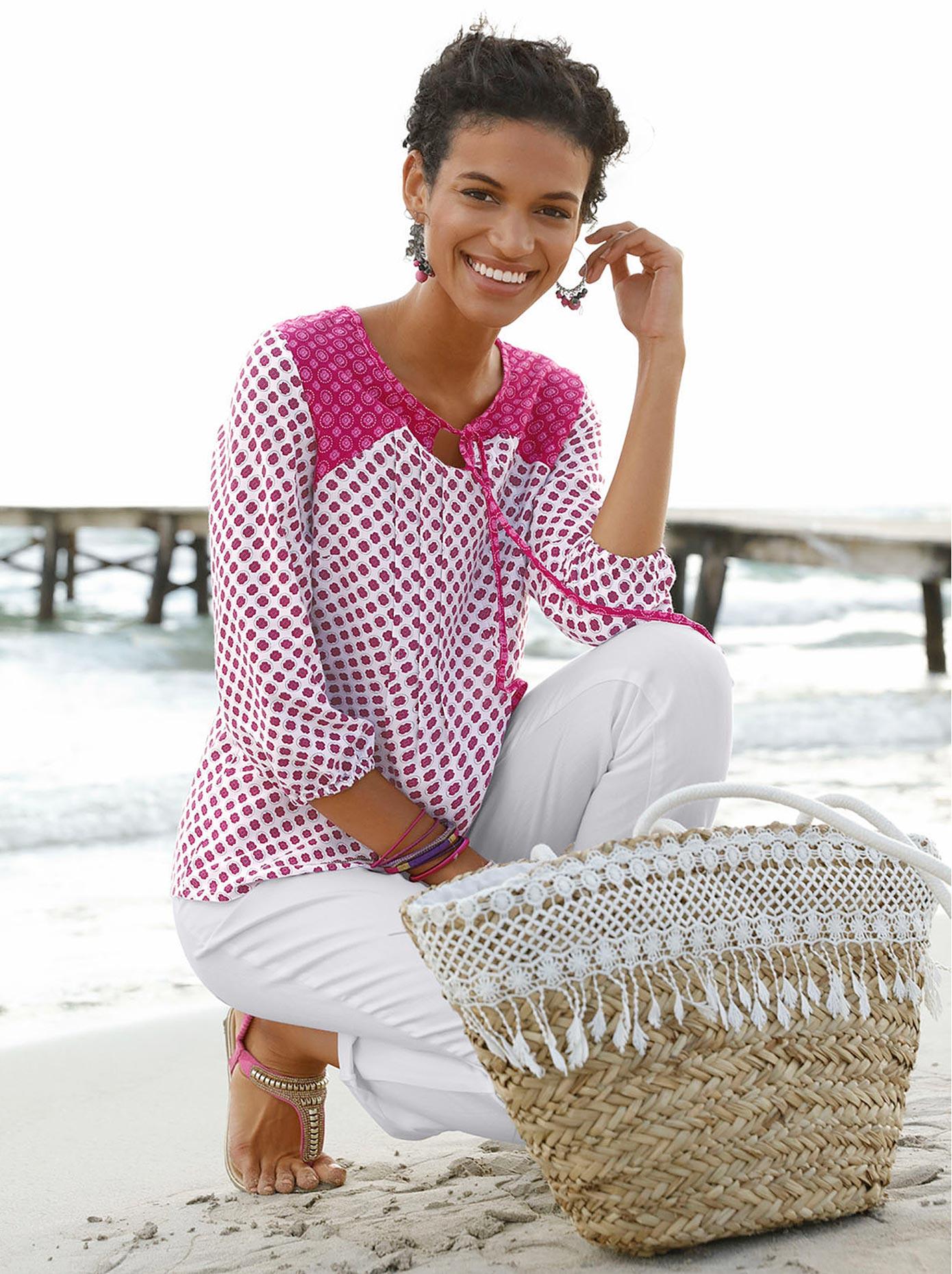 Classic Basics Tunika mit Bindebändchen   Bekleidung > Tuniken   Classic Basics
