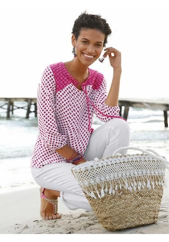 Classic Basics Tunika mit Bindebändchen kaufen