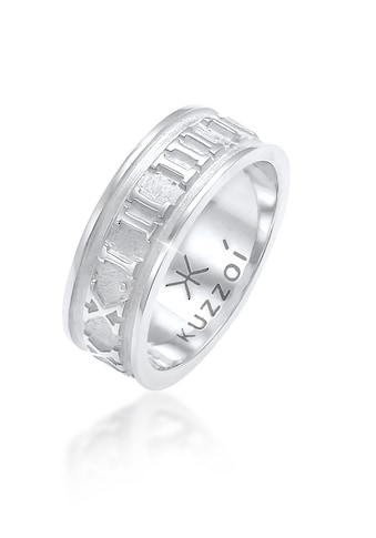 Kuzzoi Silberring »Herren Bandring Römische Zahlen 925 Silber« kaufen