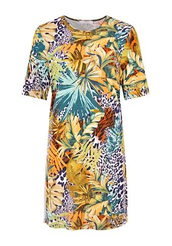 NAVIGAZIONE Più Tropisches Kleid mit Galonstreifen kaufen