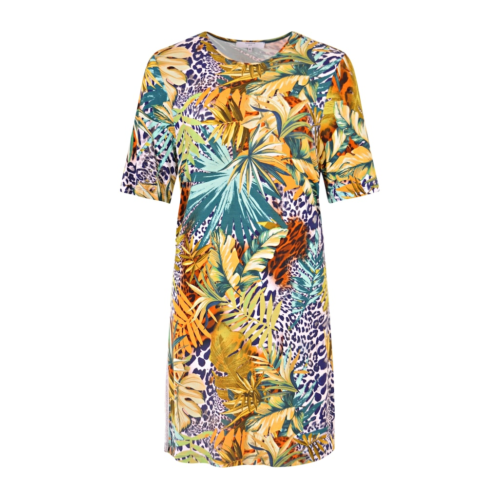 NAVIGAZIONE Più Tropisches Kleid mit Galonstreifen