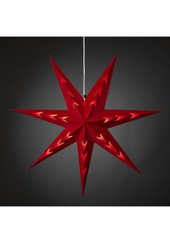 KONSTSMIDE Papierstern, (1 St.), Roter Papierstern mit rotem Samt, V-förmig... kaufen
