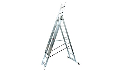 SZ METALL Schiebeleiter, Aluminium, 3 x 8 Sprossen, 217/46/16 cm (H/B/T) kaufen