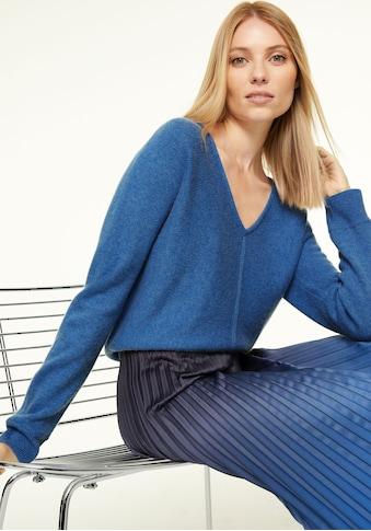 Comma V-Ausschnitt-Pullover, aus wärmendem Woll-Kaschmir-Mix kaufen