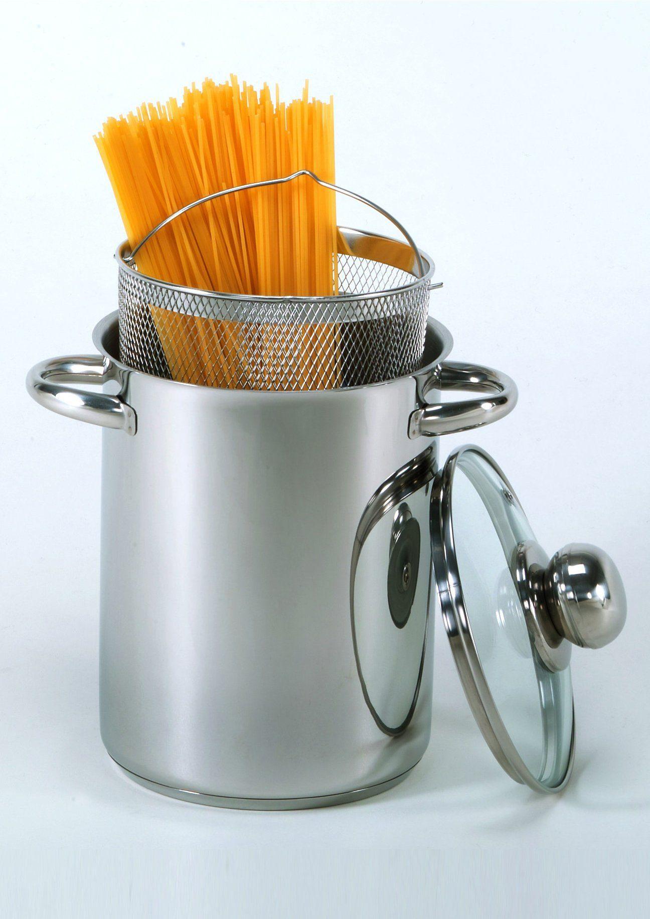 Krüger Spargeltopf, Edelstahl, (1 tlg.) silberfarben Spargeltopf Spaghettitöpfe Töpfe Haushaltswaren
