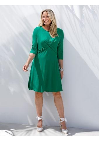 MIAMODA Kleid mit femininer Drapierung im Vorderteil kaufen