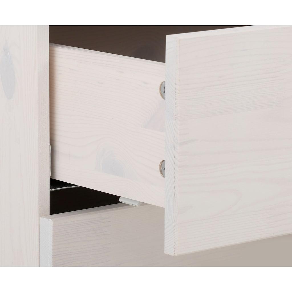 """Home affaire Vitrine »Loft«, Vitrine """"Loft"""" aus Kiefer massiv, LED Beleuchtung, Breite 65 cm"""