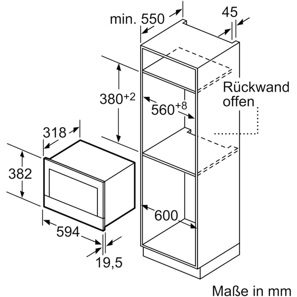 BOSCH Einbau-Mikrowelle »BER634GS1«, Mikrowelle-Grill, 900 W