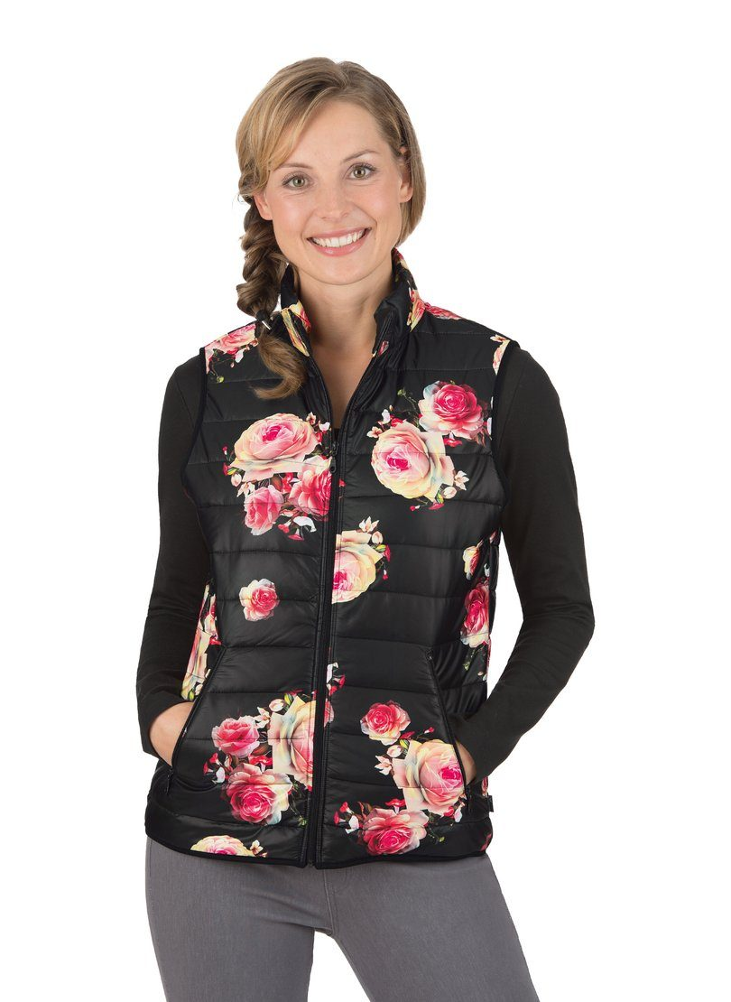 Trigema Steppweste mit floralem Muster | Bekleidung > Westen > Daunenwesten & Steppwesten | Trigema