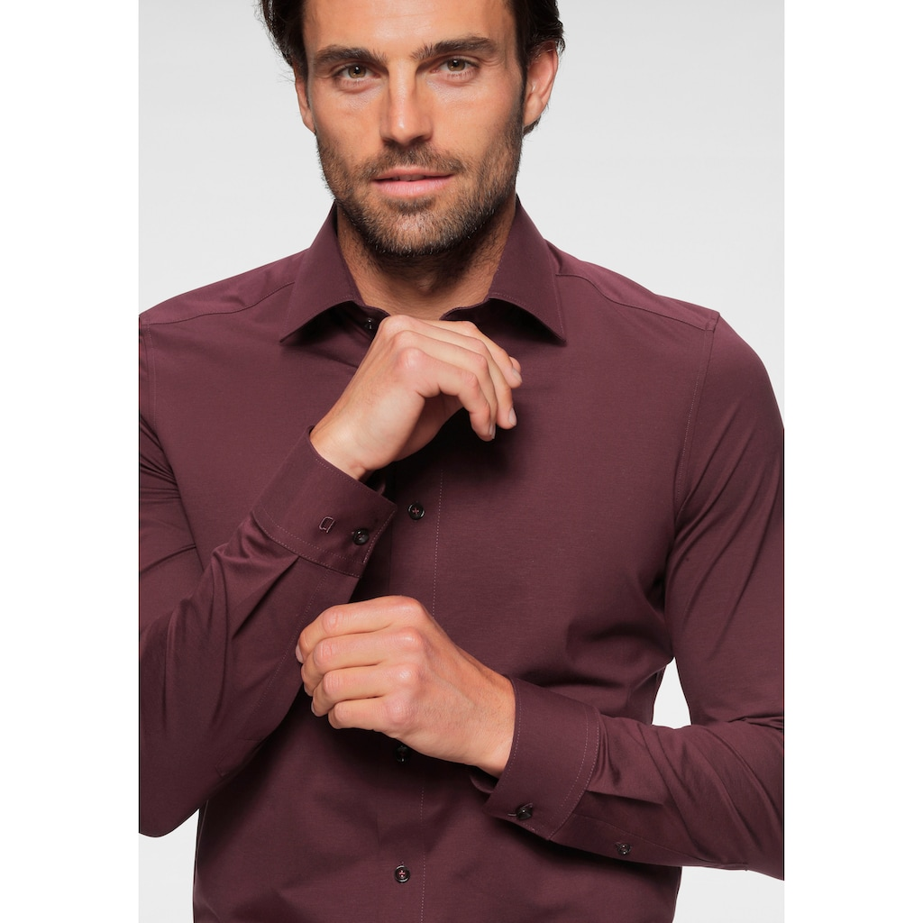 OLYMP Businesshemd »Luxor modern fit 24 / Seven«, bequeme Jersey-Qualität
