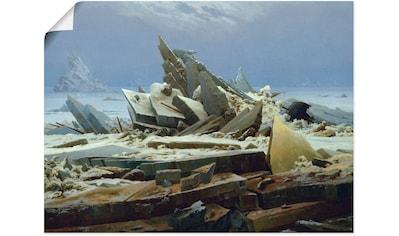 Artland Wandbild »Das Eismeer (Die gescheiterte Hoffnung)«, Gewässer, (1 St.), in vielen Größen & Produktarten - Alubild / Outdoorbild für den Außenbereich, Leinwandbild, Poster, Wandaufkleber / Wandtattoo auch für Badezimmer geeignet kaufen