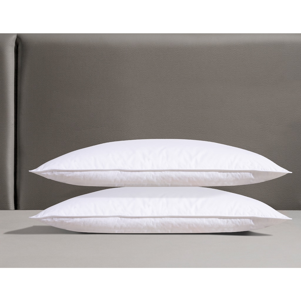 DELAVITA 3-Kammer-Kopfkissen »Grit«, Füllung: Daunen & Federn, Bezug: Baumwolle, (2 St.), für den erholsamen Schlaf entwickelt!