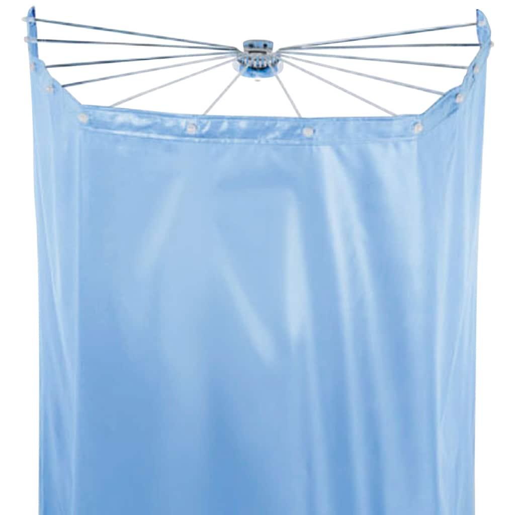 spirella Duschschirm »Ombrella«, Breite 170 cm, (Set), mit 12 Ösen, white, 200x170 cm; Duschspinne und Vorhang