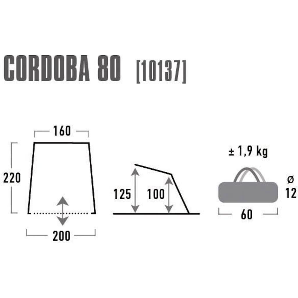 High Peak Strandmuschel »Cordoba 80«, (mit Transporttasche)