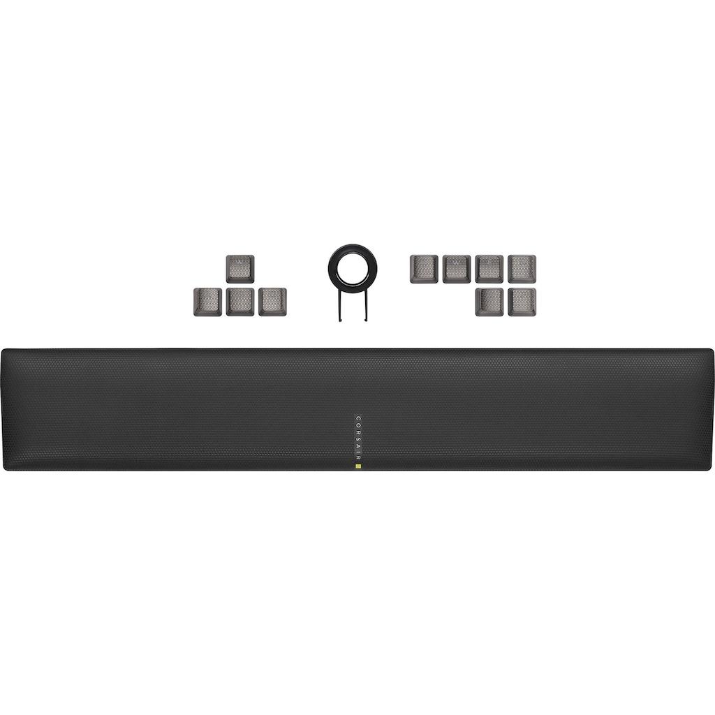 Corsair Gaming-Tastatur »K100 CHERRY MX SPEED«, (programmierbare G-Tasten-Lautstärkeregler-Ziffernblock-Handgelenkauflage)