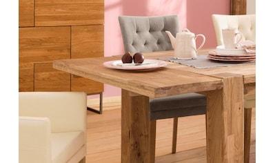 Home affaire Ansteckplatte »Marianne«, aus massiver Wildeiche, passend für den Esstisch »Marianne«, in zwei Breiten und zwei Holzfarben kaufen
