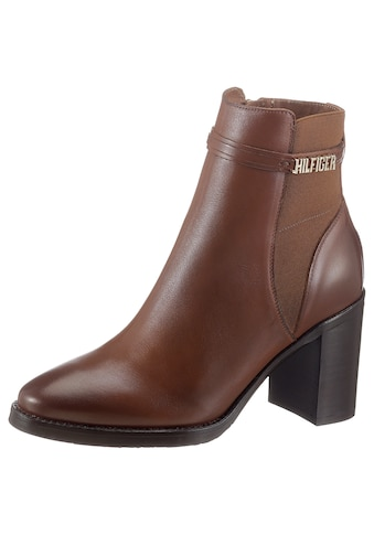TOMMY HILFIGER High - Heel - Stiefelette »BLOCK BRANDING HIGH HEEL BOOT« kaufen