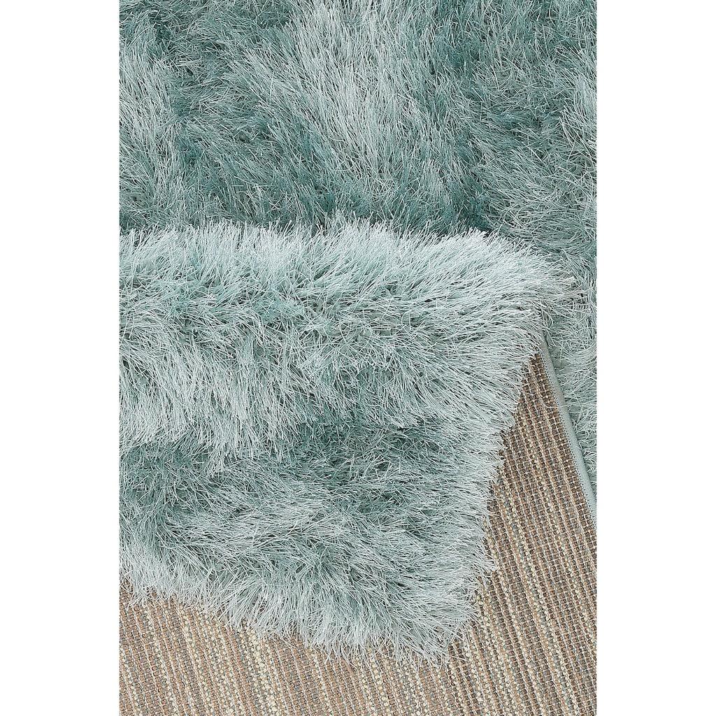 merinos Hochflor-Teppich »Glossy 412«, rechteckig, 70 mm Höhe, Besonders weich durch Microfaser, Wohnzimmer
