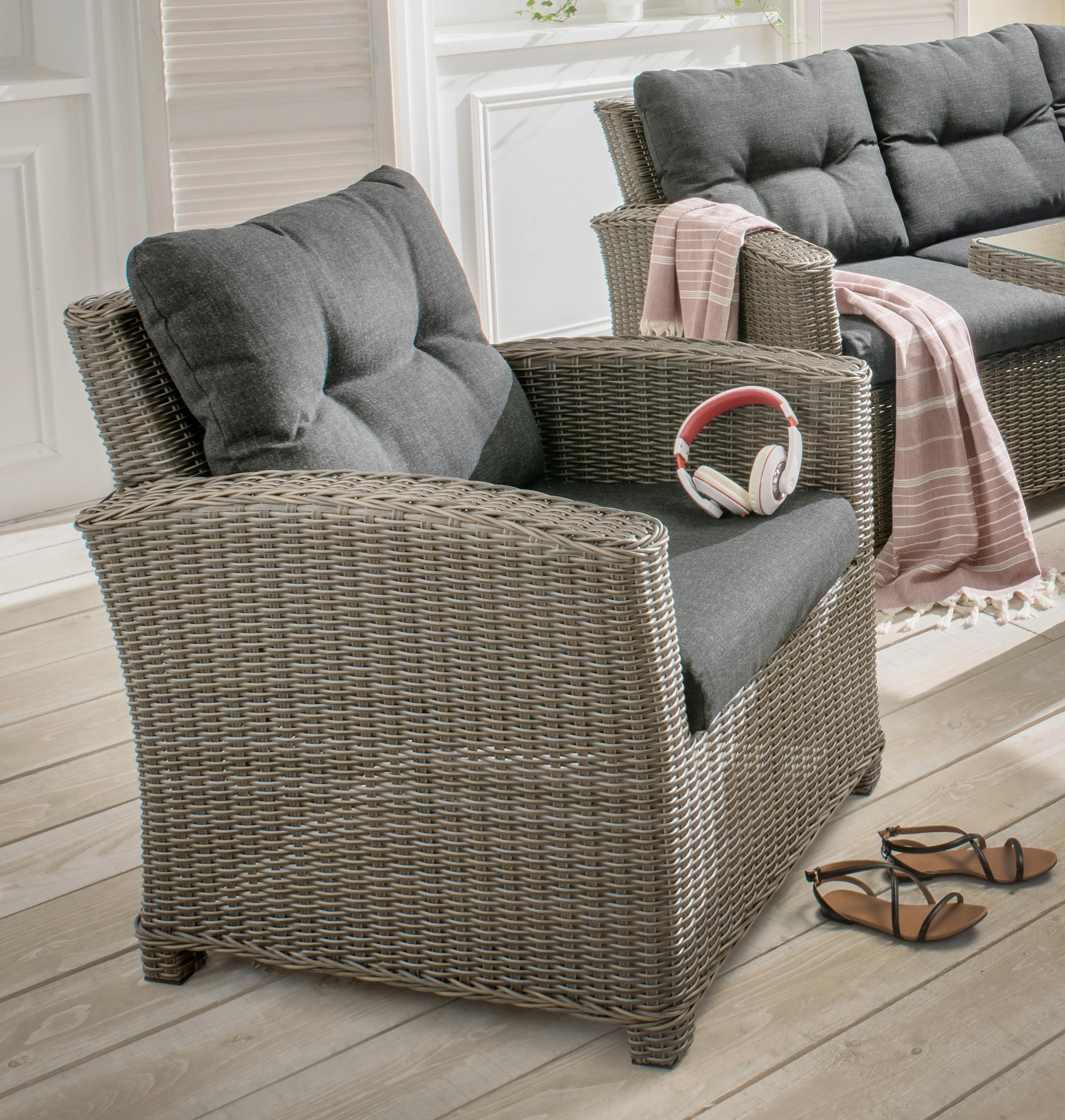 DESTINY Sessel Riviera Polyrattan inkl Auflage