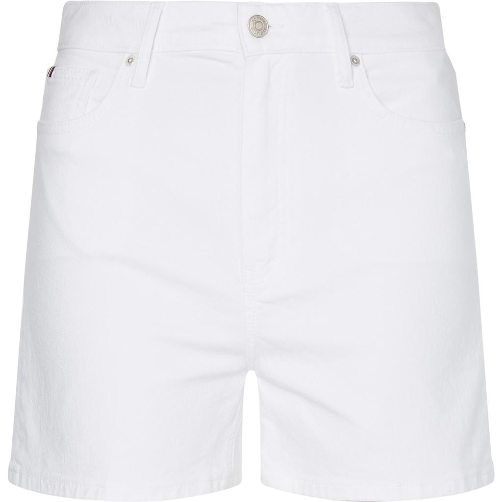 Tommy Hilfiger Shorts »Rome Straight HW White Short«, im Five-Pocket-Style