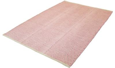 calo-deluxe Teppich »Luba 500«, rechteckig, 7 mm Höhe, reine Baumwolle, Wohnzimmer kaufen