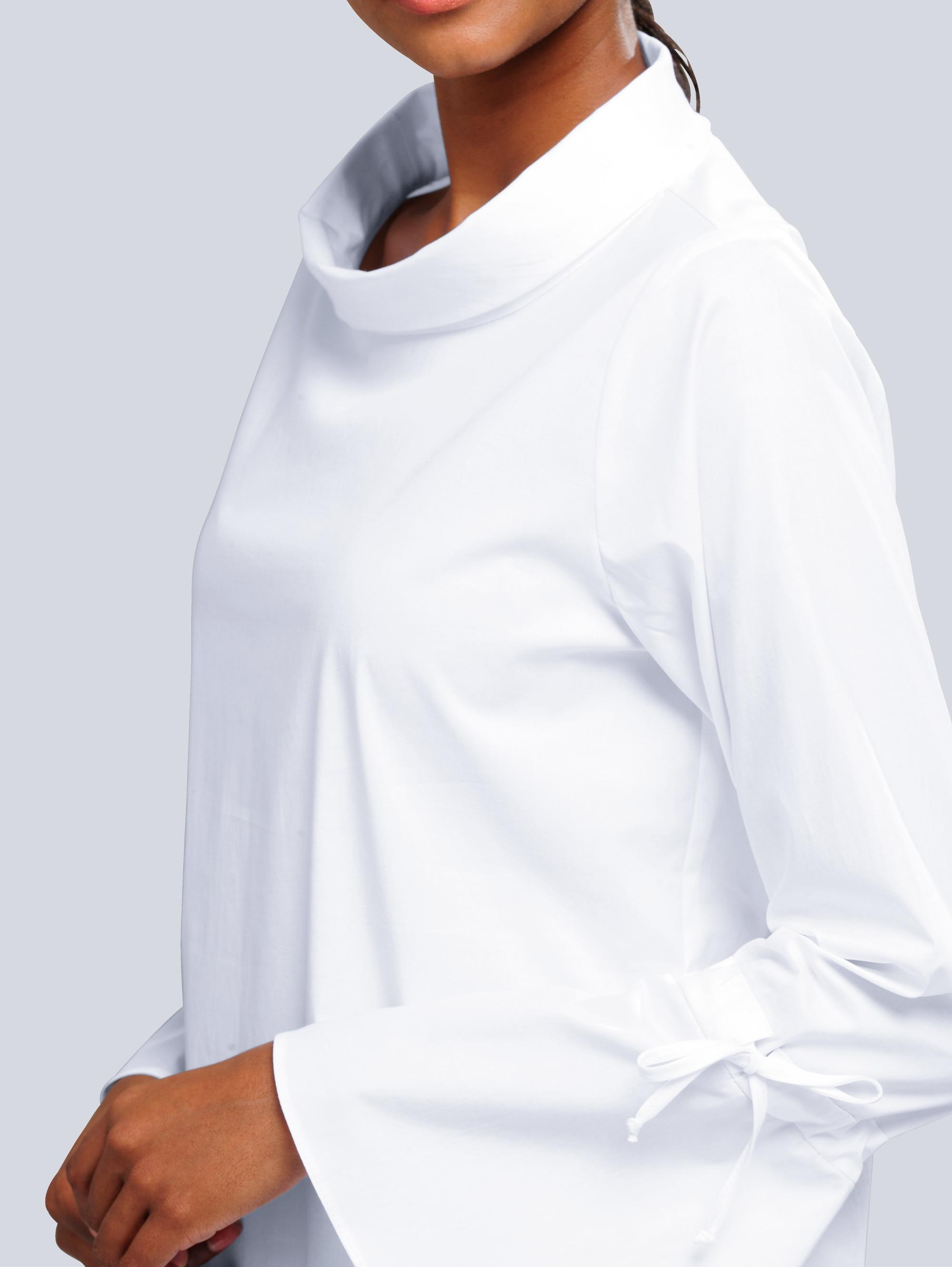 Alba Moda Bluse mit modisch weitem Stehkragen