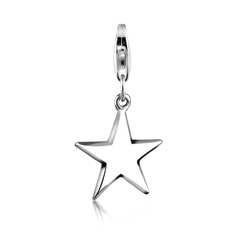 Nenalina Charm-Einhänger »Anhänger Stern Astro Star Basic 925 Silber«