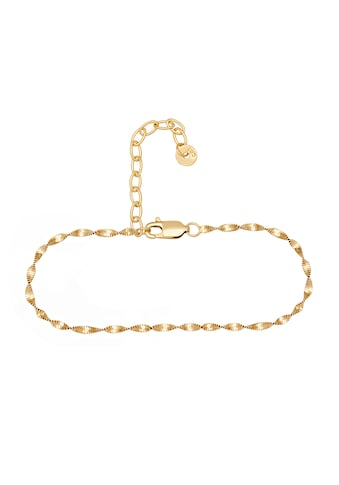 CAÏ Fußkette »925/- Sterling Silber vergoldet Flachpazer Kette g«, Fußkette kaufen