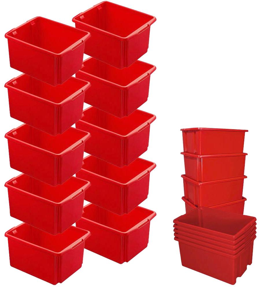 Aufbewahrungsbox, (Set, 10 St.), BxTxH: 36x45,5x24,5 cm rot Kleideraufbewahrung Aufbewahrung Ordnung Wohnaccessoires Aufbewahrungsbox