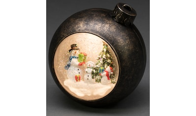 KONSTSMIDE,LED Dekolicht»Weihnachtskugel mit Schneemänner«, kaufen