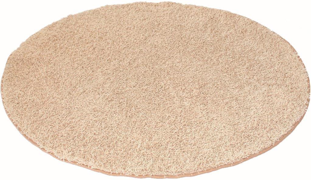Hochflor-Teppich, Amarillo, Living Line, rund, Höhe 35 mm, maschinell getuf günstig online kaufen