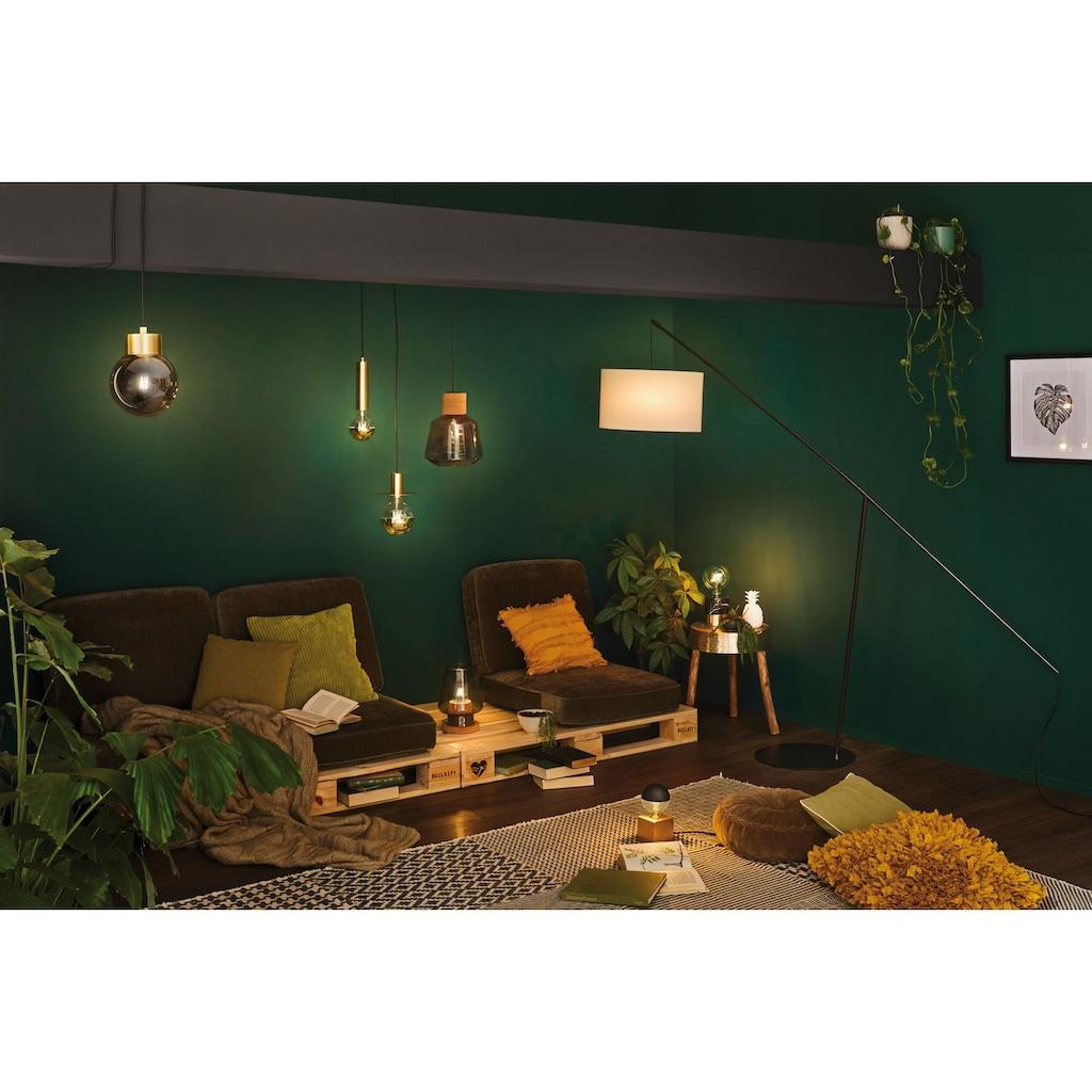 Paulmann LED Pendelleuchte »Linja Rauchglas verspiegelt/Messing max. 20W E27«, E27, 1 St.