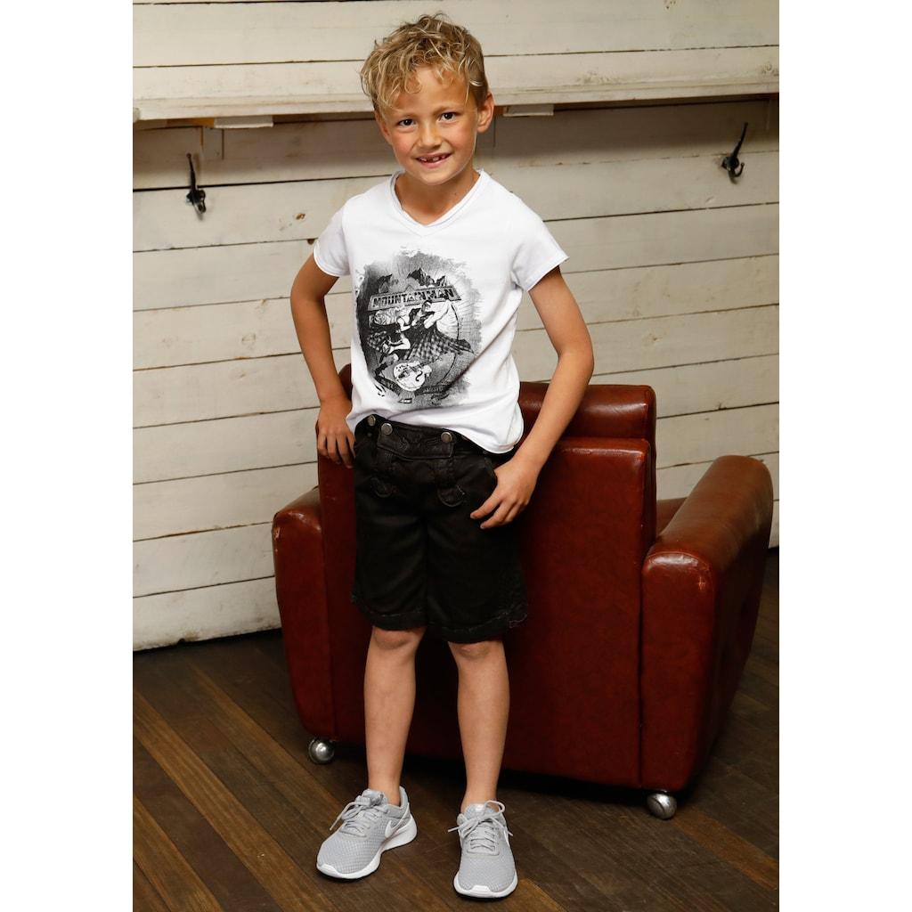 Andreas Gabalier Kollektion Trachtenshirt, Kinder mit Printmotiv